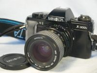 '  X-300S MD 28-70MM NICE SET ' Minolta X300S SLR Camera + 28-70mm Minolta MD Zoom Macro Lens -NICE- £29.99